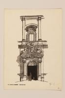 2012.471.168 Il Portone Centrale Elevazione, Pialazzo della Consulta Portfolio of architectural studies of 2 sites in Rome by a Jewish soldier, 2nd Polish Corps  Click to enlarge