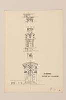 2012.471.168 Il Cortile Portone Sud - Elevazione, Palazzo della Consulta Portfolio of architectural studies of 2 sites in Rome by a Jewish soldier, 2nd Polish Corps  Click to enlarge