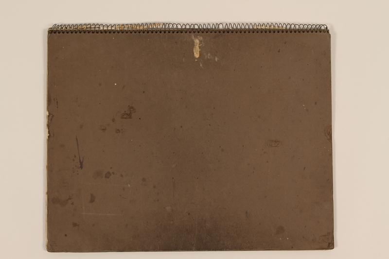 2012.471.166 front Sketchbook with studies of architecture and human figures by a Jewish veteran, 2nd Polish Corps