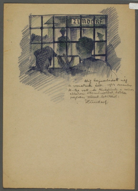 CM_1992.193.27_001 front Drawing by Ervin Abadi created while at Bergen Belsen displaced person's camp