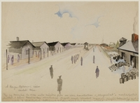 CM_1992.193.39_001 front Drawing by Ervin Abadi created while at Bergen Belsen displaced person's camp  Click to enlarge