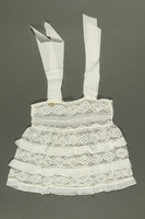 2018.281.2 side B Lace dress worn by a Jewish baby in Yugoslavia before and during the Holocaust  Click to enlarge