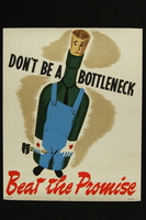 2018.370.5 front American World War II beat the promise poster prompting workers to beat production quotas  Click to enlarge