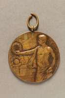 2018.286.3_001 Medallion awarded to a Hungarian Jewish athlete  Click to enlarge