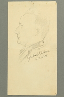 2018.286.6 front Pencil sketch of a Jewish Hungarian banker  Click to enlarge