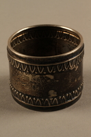 2018.290.2 a side b Monogrammed silver napkin rings owned by a German Rabbi  Click to enlarge