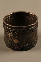 2018.290.2 b side b Monogrammed silver napkin rings owned by a German Rabbi  Click to enlarge