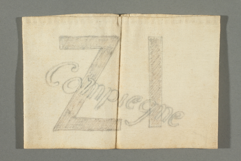 2018.337.4 front Armband worn by a Jewish American prisoner in Compiègne internment camp