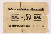 1992.197.2 front Scrip valued at 50 pfennig  Click to enlarge