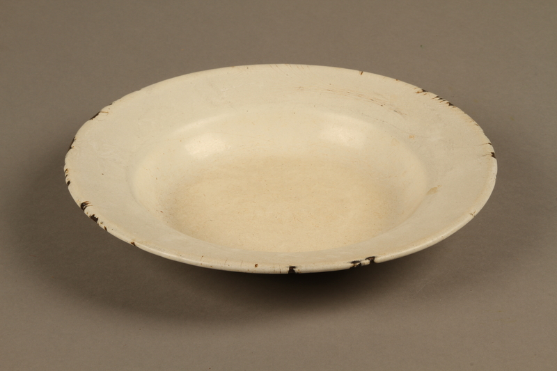 2018.369.5 top Enameled metal soup plate used by a Jewish Polish family in a displaced persons camp