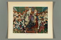 2018.380.1 front Print of an Arthur Szyk painting depicting the Simchat Torah celebration  Click to enlarge