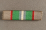 Haganah War Ribbon bar awarded to a Belgian Jewish resistance fighter for his postwar support in Palestine