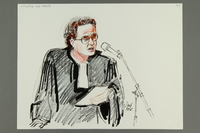 1992.21.13 front Courtroom drawing of the Klaus Barbie trial  Click to enlarge