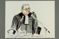 1992.21.14.1-2 front Courtroom drawing of the Klaus Barbie trial  Click to enlarge