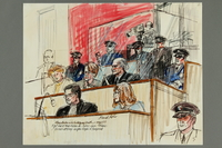 1992.21.2 front Courtroom drawing of the Klaus Barbie trial  Click to enlarge