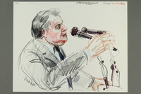 1992.21.24.1-.2 front Courtroom drawing of the Klaus Barbie trial  Click to enlarge