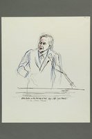 1992.21.3 front Courtroom drawing of the Klaus Barbie trial  Click to enlarge