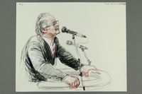 1992.21.30 front Courtroom drawing of the Klaus Barbie trial  Click to enlarge