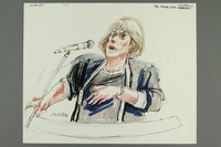 1992.21.33 front Courtroom drawing of the Klaus Barbie trial  Click to enlarge