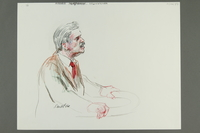1992.21.35 front Courtroom drawing of the Klaus Barbie trial  Click to enlarge