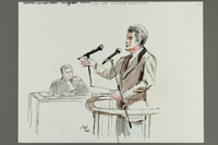 1992.21.38 front Courtroom drawing of the Klaus Barbie trial  Click to enlarge