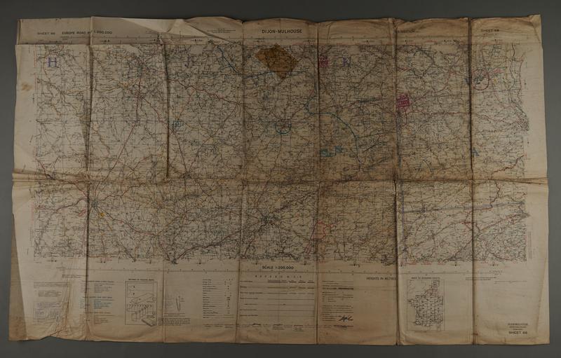 2018.462.4 front 1943 U.S. Army Map of Dijon region