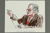 1992.21.39 front Courtroom drawing of the Klaus Barbie trial  Click to enlarge