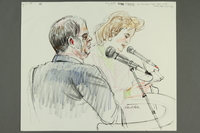 1992.21.40 front Courtroom drawing of the Klaus Barbie trial  Click to enlarge