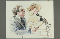 1992.21.41 front Courtroom drawing of the Klaus Barbie trial  Click to enlarge