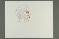 1992.21.43.1-.3 front Courtroom drawing of the Klaus Barbie trial  Click to enlarge