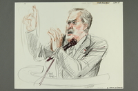 1992.21.49.1-.2 front Courtroom drawing of the Klaus Barbie trial  Click to enlarge