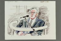 1992.21.50 front Courtroom drawing of the Klaus Barbie trial  Click to enlarge