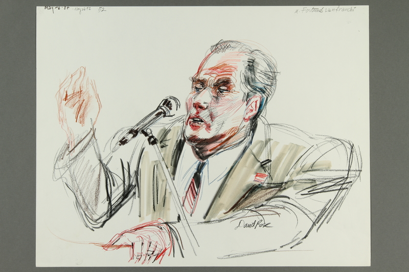 1992.21.51 front Courtroom drawing of the Klaus Barbie trial