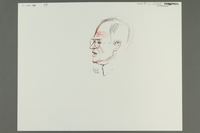 1992.21.58 front Courtroom drawing of the Klaus Barbie trial  Click to enlarge