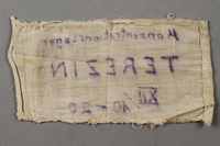 2018.427.6 back Theresienstadt armband with prisoner number worn by a liberated German Jewish prisoner  Click to enlarge
