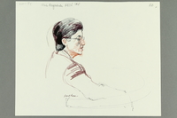 1992.21.64 front Courtroom drawing of the Klaus Barbie trial  Click to enlarge