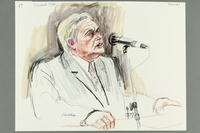 1992.21.65 front Courtroom drawing of the Klaus Barbie trial  Click to enlarge