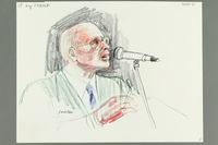 1992.21.67 front Courtroom drawing of the Klaus Barbie trial  Click to enlarge