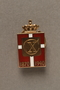 Kingmark gold, red, and white enamel pin on a buttonhole back commemorating the 70th birthday in 1940 of King Christian X of Denmark
