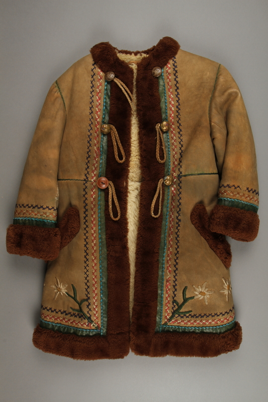 2018.498.1 front Child's coat purchased by a Polish Jewish soldier in the Soviet army for his daughter