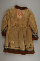 2018.498.1 back Child's coat purchased by a Polish Jewish soldier in the Soviet army for his daughter  Click to enlarge