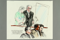 1992.21.70 front Courtroom drawing of the Klaus Barbie trial  Click to enlarge