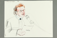 1992.21.73 front Courtroom drawing of the Klaus Barbie trial  Click to enlarge