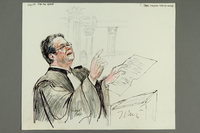 1992.21.8 front Courtroom drawing of the Klaus Barbie trial  Click to enlarge