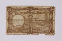 1992.221.15 back Belgium, 20 vingt note  Click to enlarge