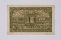 1992.221.21 back 10 schilling note  Click to enlarge
