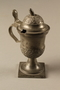 Pewter mustard pot owned by Otto Frank