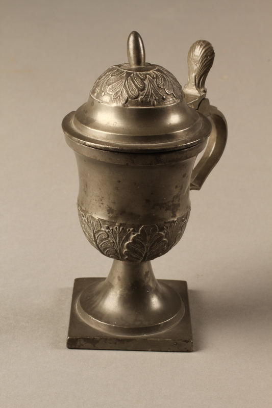 2018.613.4 side b Pewter mustard pot owned by Otto Frank