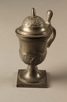 2018.613.4 side b Pewter mustard pot owned by Otto Frank  Click to enlarge