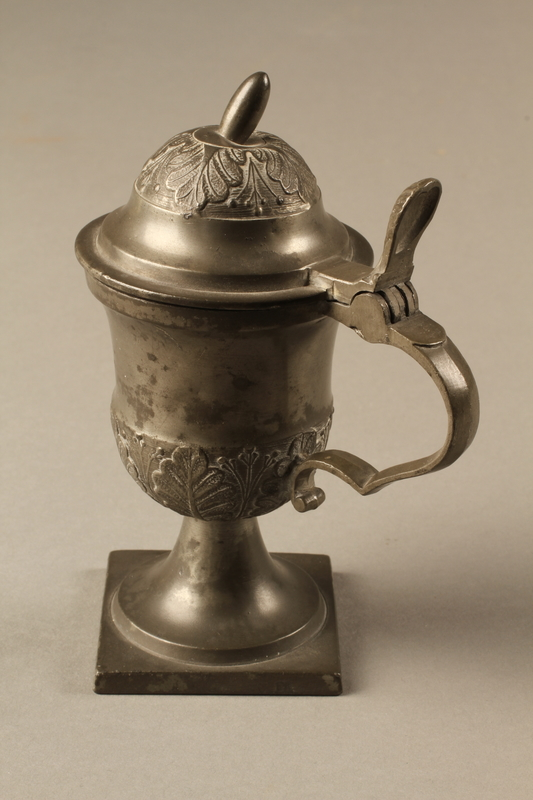 2018.613.4 side c Pewter mustard pot owned by Otto Frank